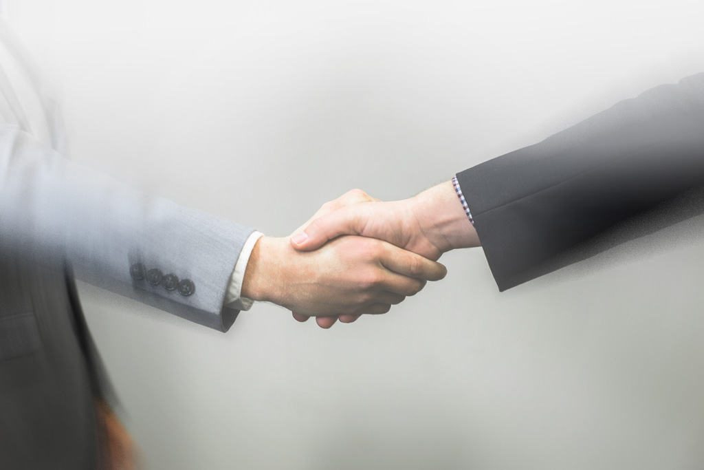 Settlement agreement stock image