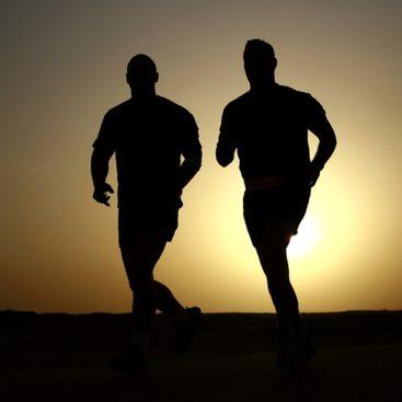 two men jogging